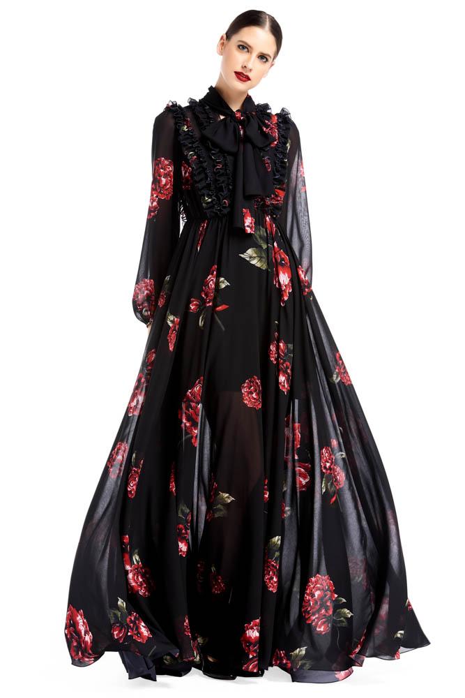 WEE Brabd, dress, long dress, black dress, print dress, cocktail dress. party dress, designer dress, outfit, fashion, ชุดแบรนด์เนม, เช่าชุด, เดรส, ชุดออกงาน, ชุดปาร์ตี้