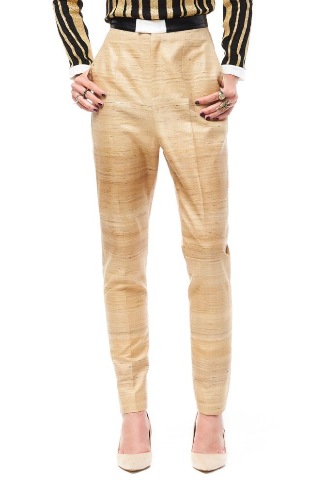 Vela De, pants, trousers, gold, print pants, party pants, designer outfit, fashion, designer clothes, ชุดแบรนด์เนม, เช่าชุด, กางเกง, ชุดออกงาน, ชุดปาร์ตี้, ชุดไปเที่ยว