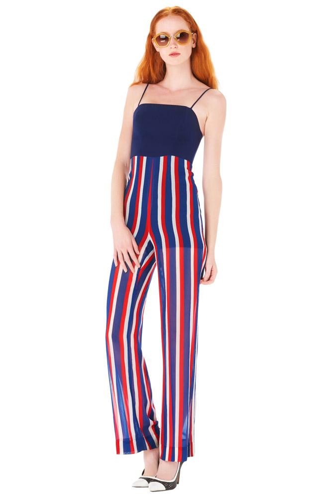 ASV, jumpsuit, striped jumpsuit, print jumpsuit, blue jumpsuit, party outfit, vacation outfit, designer outfit, outfit, fashion, designer clothes, designer brands, ชุดแบรนด์เนม, เช่าชุด, ชุดออกงาน, ชุดปาร์ตี้, ชุดไปเที่ยว